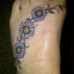 Daisy Tattoos 2 150x150 - 100's of Daisy Tattoo Design Ideas Pictures Gallery
