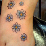 Daisy Tattoos 8 150x150 - 100's of Daisy Tattoo Design Ideas Pictures Gallery