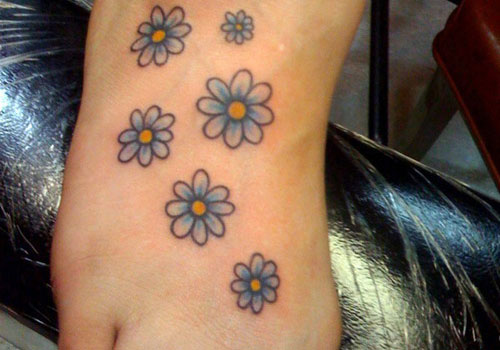 Daisy Wrist Tattoos: 100's Of Daisy Tattoo Design Ideas Pictures Gallery