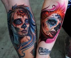 100's of Dia De Los Muertos Tattoo Design Ideas Pictures Gallery