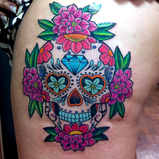 100 39 s of dia de los muertos tattoo design ideas pictures gallery. Black Bedroom Furniture Sets. Home Design Ideas