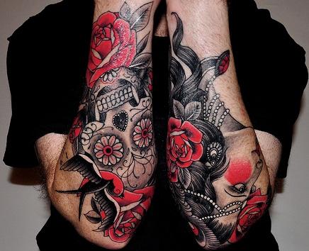 100 39 s of dia de los muertos tattoo design ideas pictures for Dia de muertos tattoos