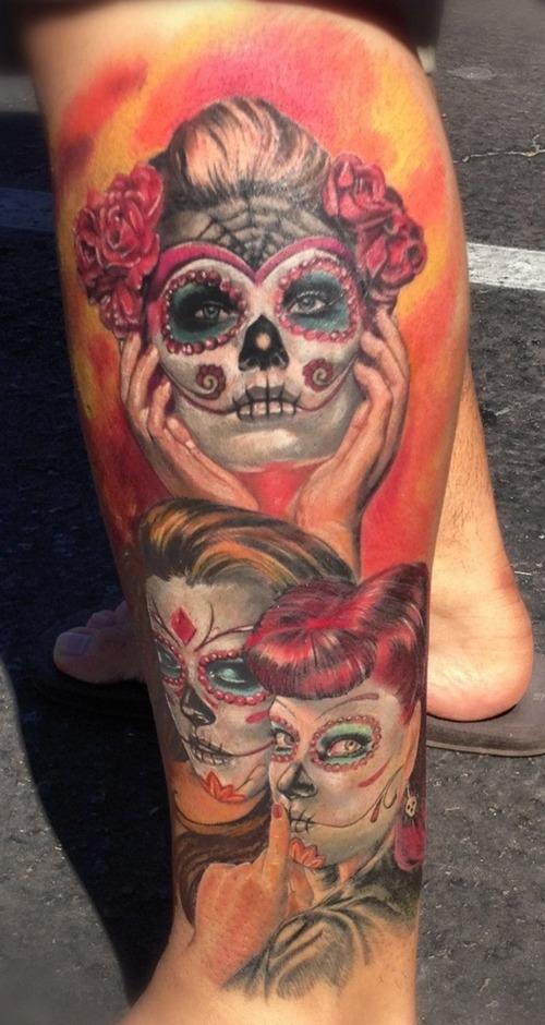 100 39 s of dia de los muertos tattoo design ideas pictures