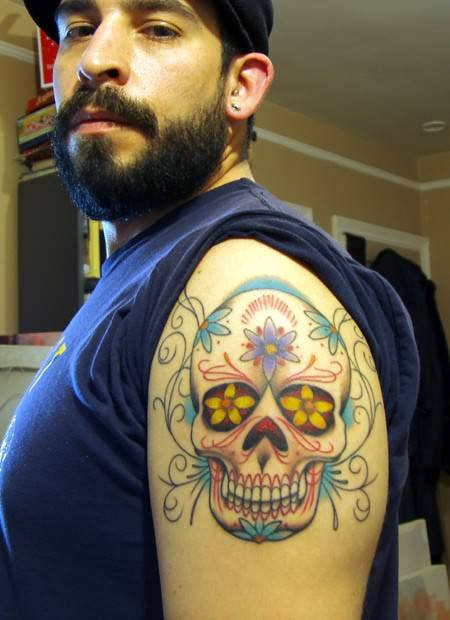 100's of Dia De Los Muertos Tattoo Design Ideas Pictures Gallery