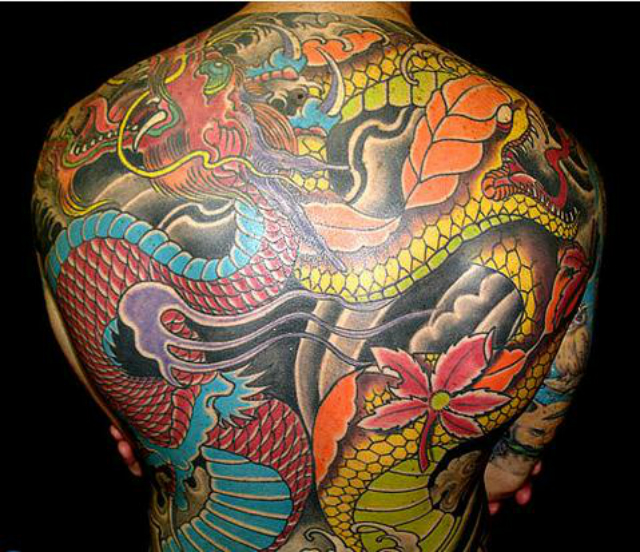 100's of Dragon Body Tattoo Design Ideas Pictures Gallery