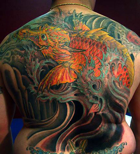 100 39 s of dragon fish tattoo design ideas pictures gallery for Dragon fish tattoo