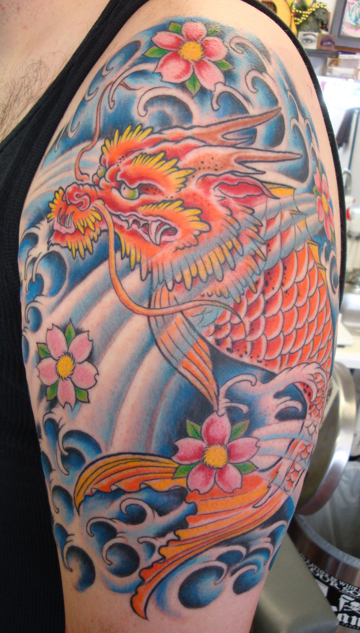 100's of Dragon Fish Tattoo Design Ideas Pictures Gallery