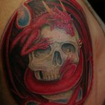Dragon Skull 10 150x150 - 100's of Dragon Skull Tattoo Design Ideas Pictures Gallery