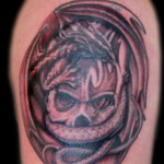 Dragon Skull 2 150x150 - 100's of Dragon Skull Tattoo Design Ideas Pictures Gallery
