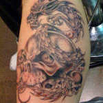 Dragon Skull 6 150x150 - 100's of Dragon Skull Tattoo Design Ideas Pictures Gallery