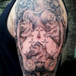 Family Crest 12 150x150 - 100's of Family Crest Tattoo Design Ideas Pictures Gallery