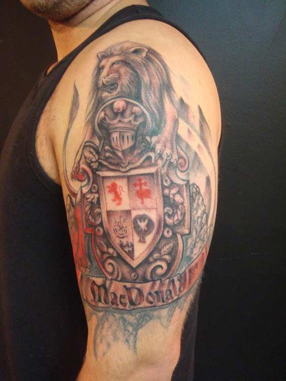 english coat of arms tattoo - photo #16