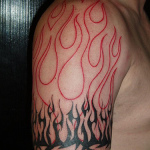 Flame Tribal Tattoo5 150x150 - 100's of Flame Tribal Tattoo Design Ideas Pictures Gallery