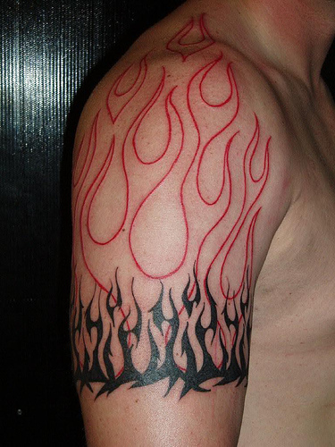 100 s of flame tribal tattoo design ideas pictures gallery. Black Bedroom Furniture Sets. Home Design Ideas