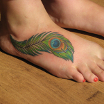 Foot Tattoos for Girls 12 150x150 - 100's of Foot Tattoo Design Ideas Picture Gallery