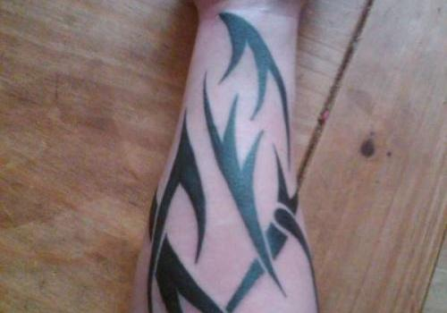 Forearm Tribal Tattoo