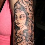 Girls Arm Tattoo 2 150x150 - 100's of Girls Arm Tattoo Design Ideas Pictures Gallery