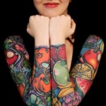 Girls Arm Tattoo 5 150x150 - 100's of Girls Arm Tattoo Design Ideas Pictures Gallery