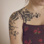 Girls Shoulder Tattoo 2 150x150 - 100's of Shoulder Tattoo Design Ideas Picture Gallery