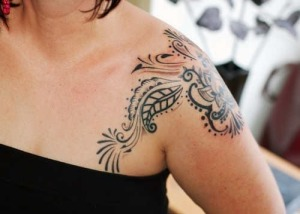 Girls Shoulder Tattoo 9