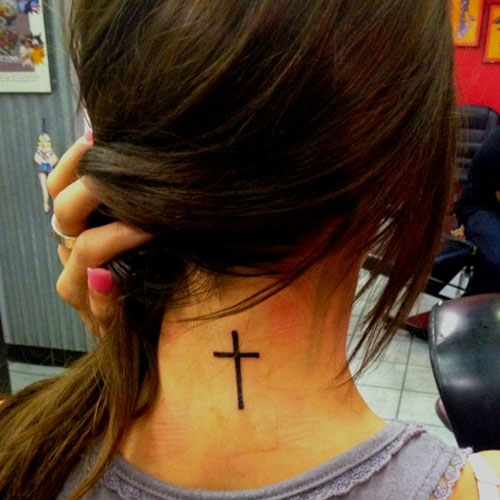 100's of Girly Cross Tattoo Design Ideas Pictures Gallery