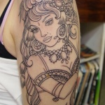 Gypsy 2 150x150 - 100's of Gypsy Tattoo Design Ideas Pictures Gallery