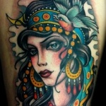Gypsy 5 150x150 - 100's of Gypsy Tattoo Design Ideas Pictures Gallery