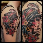 Gypsy 6 150x150 - 100's of Gypsy Tattoo Design Ideas Pictures Gallery