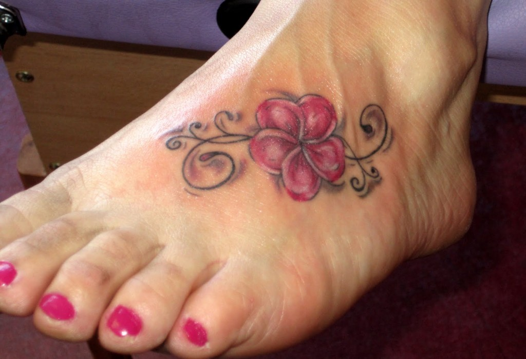 Lotustattoo Flower Leg