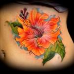 100's of Hibiscus Tattoo Design Ideas Pictures Gallery