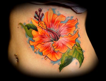 100's of Hibiscus Tattoo Design Ideas Pictures Gallery