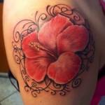Hibiscus Tattoo 10 150x150 - 100's of Hibiscus Tattoo Design Ideas Pictures Gallery
