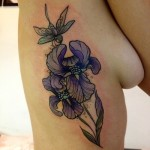 Iris Tattoo 2 150x150 - 100's of Iris Tattoo Design Ideas Pictures Gallery