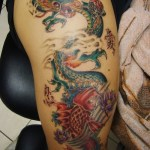 Koi Dragon 12 150x150 - 100's of Koi Dragon Tattoo Design Ideas Pictures Gallery