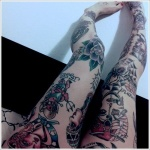 Leg Tattoos for Girls 2 150x150 - 100's of Leg Tattoos for Girls Design Ideas Pictures Gallery