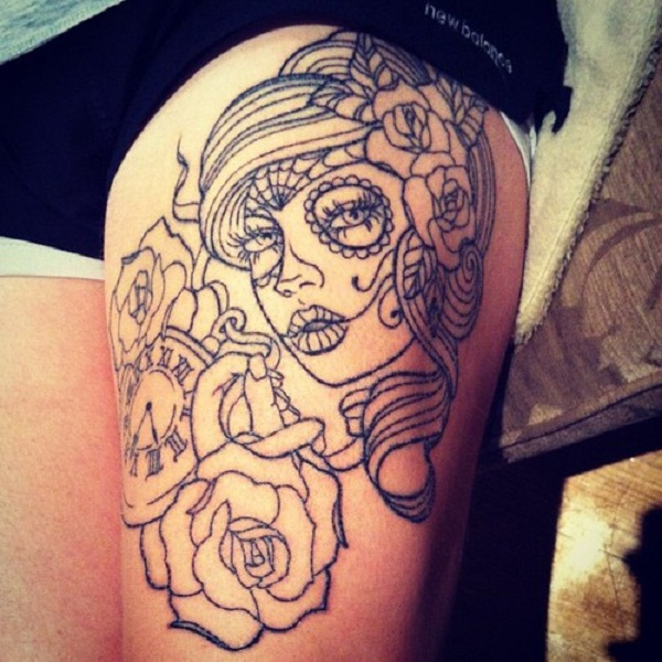 ba53e4204f 100's of Leg Tattoos for Girls Design Ideas Pictures Gallery