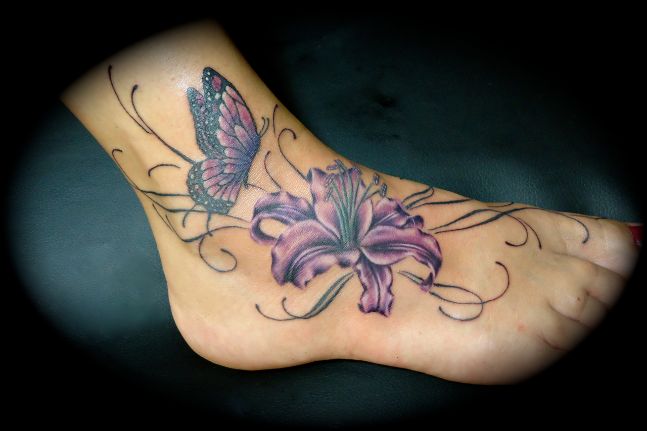 Lilly Tattoos: 100's Of Lily Tattoo Design Ideas Pictures Gallery