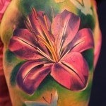 Lily Tattoo 2 150x150 - 100's of Lily Tattoo Design Ideas Pictures Gallery