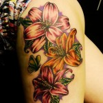 Lily Tattoo 5 150x150 - 100's of Lily Tattoo Design Ideas Pictures Gallery