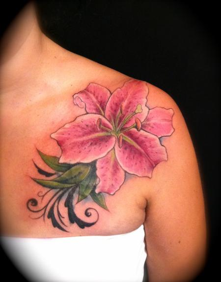 100's of Lily Tattoo Design Ideas Pictures Gallery