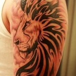 Lion Tribal Tattoo1 150x150 - 100's of Lion Tribal Tattoo Design Ideas Pictures Gallery
