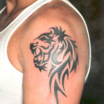 Lion Tribal Tattoo10 150x150 - 100's of Lion Tribal Tattoo Design Ideas Pictures Gallery