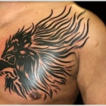 Lion Tribal Tattoo3 150x150 - 100's of Lion Tribal Tattoo Design Ideas Pictures Gallery
