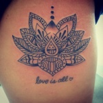 Lotus Tribal Tattoo10 150x150 - 100's of Lotus Tribal Tattoo Design Ideas Pictures Gallery