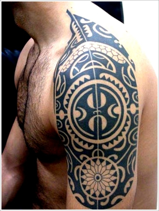 does tribal shoulder tattoo how a long take Tribal Maori Tattoo8