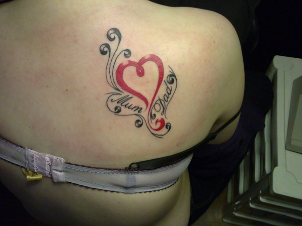 Mom Dad Heartbeat Tattoo: 100's Of Mom And Dad Tattoo Design Ideas Pictures Gallery