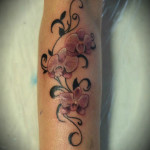 Orchid Tattoo 7 150x150 - 100's of Orchid Tattoo Design Ideas Pictures Gallery
