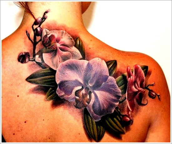 100's of Orchid Tattoo Design Ideas Pictures Gallery