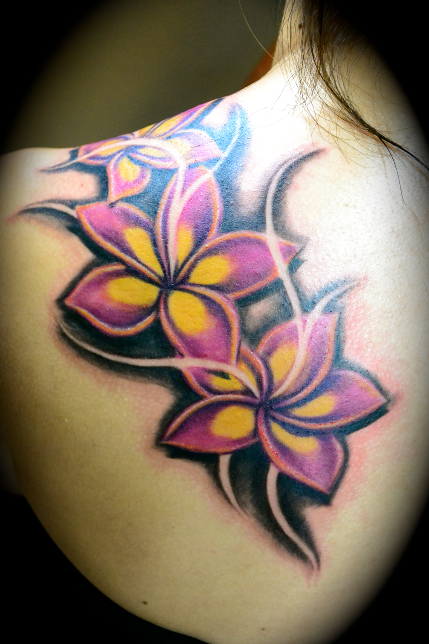 100's of Plumeria Tattoo