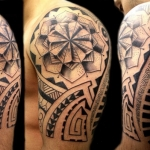 Polynesian Tribal Tattoo6 150x150 - 100's of Polynesian Tribal Tattoo Design Ideas Pictures Gallery